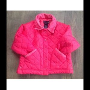 RALPH LAUREN POLO  PINK QUILTED JACKET 3-12 M/S/M